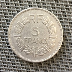 5 francs 1949 Lavrillier (9 fermé)