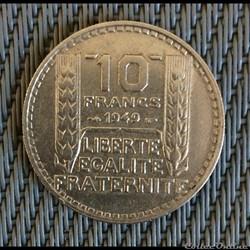 10 francs 1949 Turin petite tête
