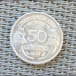50 centimes 1941 légère