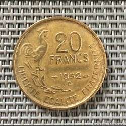 20 francs 1952 B