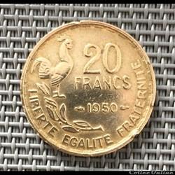 20 francs 1950 3 plumes