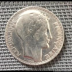 20 francs 1933 Turin rameaux longs