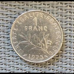 1 franc 1973 semeuse