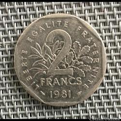 2 francs 1981 semeuse