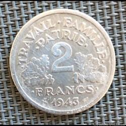 2 francs 1943 Bazor