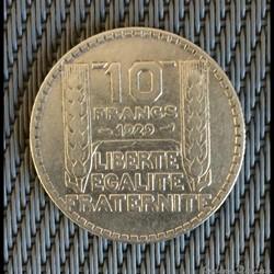10 francs 1929 Turin