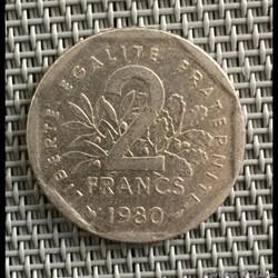 2 francs 1980 semeuse