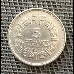 5 francs 1947 Lavrillier (9 ouvert)