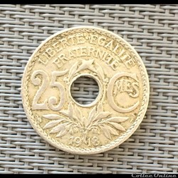 25 centimes 1918