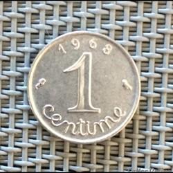 1 centime 1968 épi
