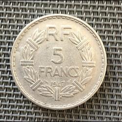 5 francs 1947 Lavrillier (9 fermé)