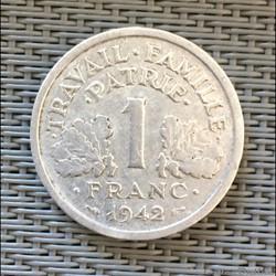 1 franc 1942 Bazor lourde