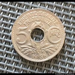 5 centimes 1936