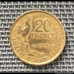 20 francs 1951