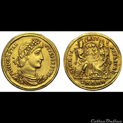 Constance II - Solidus - GLORIA REIPVBLI...
