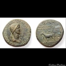 Agrippine l'ancienne - Sesterce - SPQR MEMORIAE AGRIPPINAE