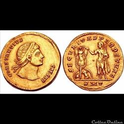 """Constance II - multiple de 2 solidi """"inédit"""" - SECVRITAS PERPETVAE"""