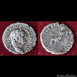 Vespasien - denier - CONCORDIA AVGVSTI