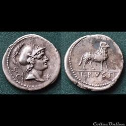 monnaie antique romaine rustia denier