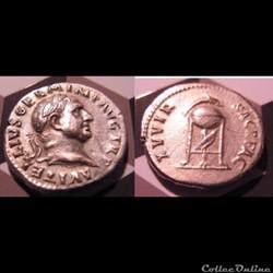 Vitellius - denier - XV VIR SACR FAC