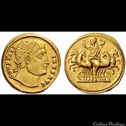 Constantin I - aureus - RIC 1 Constantinople
