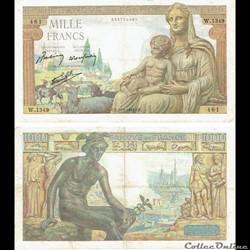 "1 000 francs type 1942 ""Déméter"""