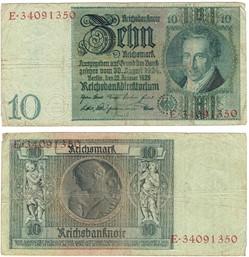 10 Reichsmark, 1929