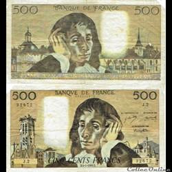 """500 francs type 1968 """"Pascal"""""""