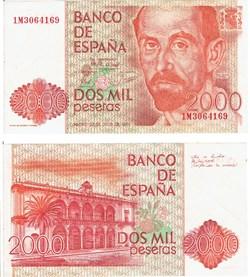 Espagne Billet 2000 Pesetas