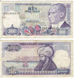 TURQUIE - 1000 Lire turque