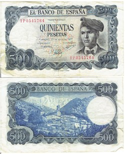 Espagne 500 Pesetas 1971