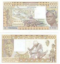 1000 Francs ÉTATS DE L'AFRIQUE DE L'OUES...