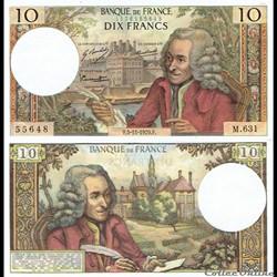 "10 francs type 1963 ""Voltaire"""