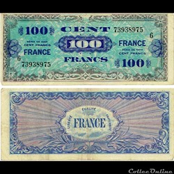 "100 francs type 1945 ""Fabrication améric..."