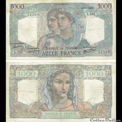 "1 000 francs type 1945 ""Minerve et Hercu..."