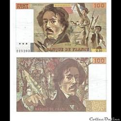 """100 francs type 1978 """"Delacroix"""""""