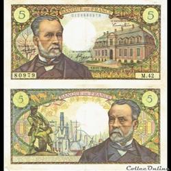 """5 francs type 1966 """"Pasteur"""""""