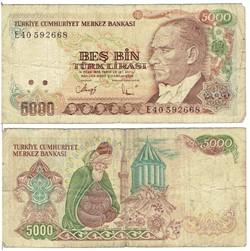 TURQUIE - Billet de 5000 Lire turque