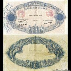 "500 francs type 1888 ""Bleu et rose"""