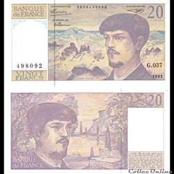 "20 francs type 1980 ""Debussy"""