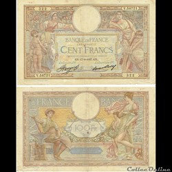 23 - 100 Francs L.O. Merson  1937 « Grands Cartouches »