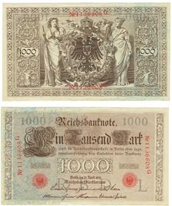 1000 Mark type 1910