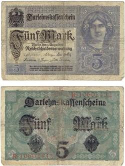5 Mark type 1917-18
