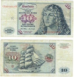 10 Deutsche Mark type 1970-80