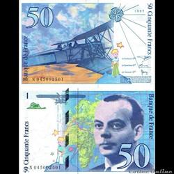 """50 francs type 1992 """"Saint-Exupéry"""""""