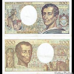 """200 francs type 1981 """"Montesquieu"""""""