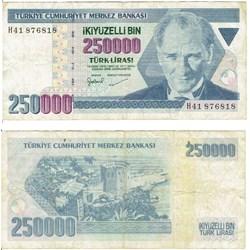 250 000 Lira type Kamel Atatürk