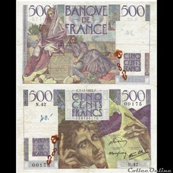 "500 francs type 1945 ""Chateaubriand"""