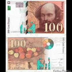 "100 francs type 1997 ""Cézanne"""
