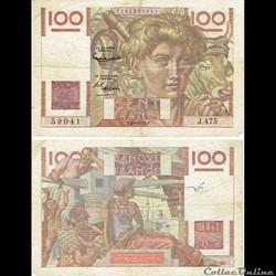"""100 francs type 1945 """"Jeune paysan"""""""